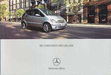 Mercedes A-Klasse Prospekt 8/01 2001 brochure A 190 160 140 170 CDI 160 CDI Auto