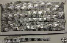 1mtr 3strip 2.5mm CLEAR rhinestone reel iron-on hotfix chain ribbon dress making
