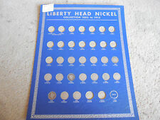 Near Mint 1938 Whitman Coin Board - Liberty Nickels - Partial Set - #012505