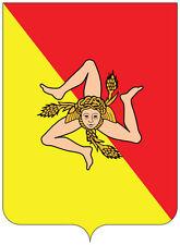 Sicily stemma Coat of arms Italia Italy etichetta sticker 11cm x 15cm