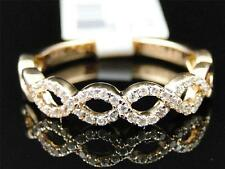 Mujer 14K Oro Rosa Diamante de Compromiso Diseño Boda Retorcido Anillo Banda
