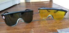 Vintage Retro Mont Blanc Sunglasses Scientific Black and Yellow lenses