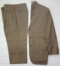 Corneliani Suit 42R Beige 3 Button Super 120s Wool Side Vents Mens Italy 32x28