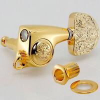NEW Gotoh SGL510Z-A20LX Luxury Mode L3+R3 SET Tuning Keys 1:21 Ratio 3x3 - GOLD