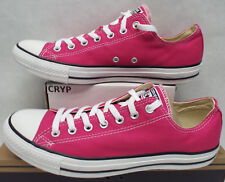 New Mens 10 Converse Chuck Taylor CT OX Cosmos Pink Canvas Shoes $55 144806F