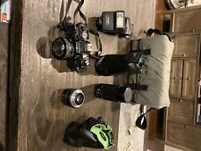 minolta x-700 full kit includes body of camera 3 Lenses Carrying Case