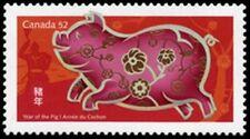 Canada  # 2201  LUNAR - YEAR OF THE PIG    New Issue  2007  Pristine Gum