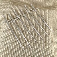 Rare Christofle Silver Plated Meat Skewer Brochette Hatelet Cocktail Set of 6