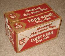 Old Cardboard Lone Star Beer Bottle Box