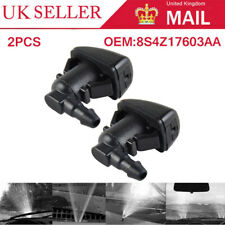 2x FRONT WINDSCREEN MIST WATER WASHER JETS SPRAY NOZZLES FOR FORD FOCUS 08-11