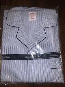 Brooks Brothers Blue Thin Striped Pyjama Set BRAND NEW RRP £110 100% Cotton