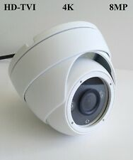 HD TVI 4K 8MP HD CMOS Outdoor IR Dome Security Camera 3.6mm Lens 4-in-1