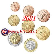Série 1 Cent à 2 Euro France 2021 - Série UNC