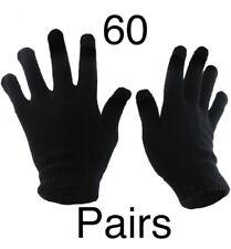 60 Pairs Black Magic Gloves Unisex Men Ladies Winter one size Wholesale Job lot