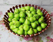 100 Artificial mini pear green fruit Fake Fruit faux food  Kitchen Decorative