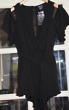 DREAM HOUSE BLACK MINI PLAY SUIT ~ SIZE 10 ~NEW WITH TAGS