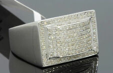 .72 CARAT MENS WHITE GOLD FINISH GENUINE DIAMOND ENGAGEMENT WEDDING PINKY RING