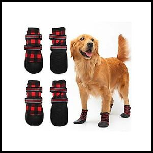 FLYSTAR Dog Shoes for Medium Large Dogs Waterproof Reflective Adjustable Wint...