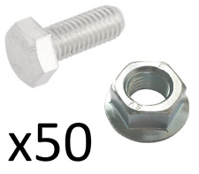 Dexion nuts and bolts for slotted angle shelving 50 bolts 50 nuts FREE DELIVERY