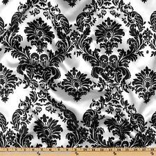 Damask Fabric By The Yard White Taffeta Fabric Polyester Black White Damask New