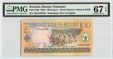 New listing Rwanda 2003 P-29b Pmg Superb Gem Unc 67 Epq 100 Francs