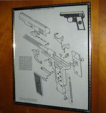 Vintage 1950s Walther Model 8 Exploded View Schematic Print