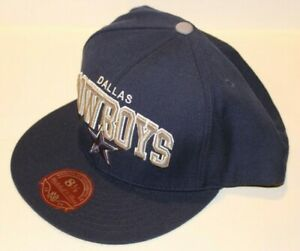 NWT NFL Dallas Cowboys Mitchell & Ness Fitted Navy Blue Arch Hat Size 7 5/8