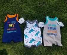 Baby Boy Clothes Lot Newborn One Piece, Jumper, Jump Suit NEW TAGS