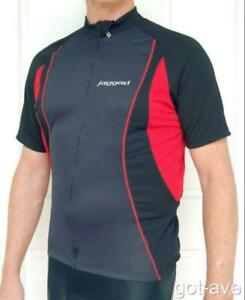 Cycling Bike Full Zip Front Jersey Grey Red & Navy unisex S