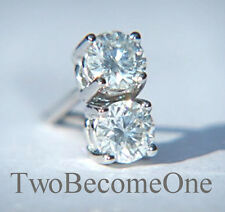 18 Carat Very Good Cut White Gold SI1 Fine Diamond Earrings