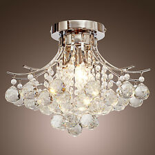 Modern Crystal 3 lights Chandelier Drop Pendant Ceiling Lighting Fixture Lamp