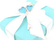 Tiffany Co Silver Heart Key Locket Necklace Box Included