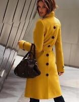 Women's Parka Outwear Mid Long Ladies Jackets Wool Blend Coats Sigle Breasted