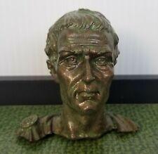 Ancient Roman Republic / Empire Julius Caesar Cold Casting Antique Brass Bust