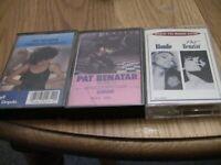 PAT BENATAR 3 Cassette Lot: Crimes of Passion, Tropico, Back to Back Hits