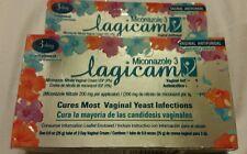 Miconazole 3 Lagicam Vaginal Antifungal and Antimicotico 3 days treatment No Box