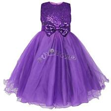 Flowers Kids Girls Dress Tulle Bridesmaid Wedding Prom Ball Formal Party Dresses