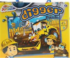 Yellow Digger Truck 45 Piece Jigsaw Floor Puzzle