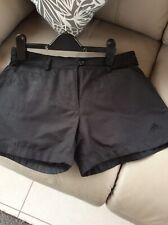 Ladies Black Adidas Training Shorts Size 10