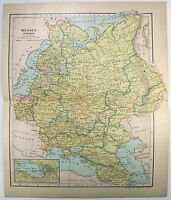 Original 1903 Dated Map of European Russia by Dodd Mead & Company