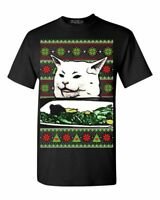 Smudge The Cat T-shirt Women Yelling At Cat Meme Funny Ugly Christmas Shirts