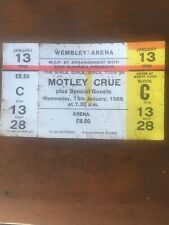 More details for unused motley crue ticket it was lost but now found. 😊