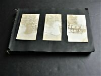 Vintage Set of 100+ Real Photo Snapshot 1900s early Scrapbook.