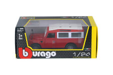 Red Land Rover Series 2 Wagon 1/24 Scale Diecast Model by Burago with Window Box