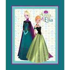 Disney Frozen Elsa and Anna Sisters 90cm x 112cm 100% Cotton Fabric