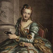 ANNE D'ARPAJON MOUCHY MADAME ETIQUETTE - Coypel - Incisione Originale 1800