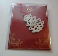 Vtg Retired Lenox Christmas Tree Ivory Color Porcelain Fine China Ornament