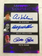 2019 Leaf Ultimate Sports 1/4 Al Kaline Billy Williams Pete Rose Auto Card HOF