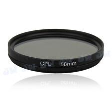 58 mm CPL Circulaire Polarisant Filtre Protecteur Lentille Pour Canon Nikon Sony Samsung