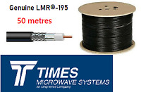 LMR-195 Times Microwave coaxial 50 Ohm Low Loss coax Cable Radio 50M Length HAM